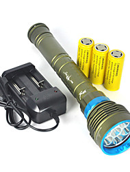 10000LM 7x XM-L2 LED Scuba Diving Flashlight 3X26650/18650 Torch Underwater 200m Full set Of Battery Charger