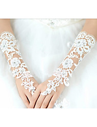 Elbow Length Fingerless Glove Cotton Bridal Gloves lace