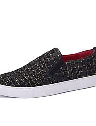 Herren-Sneaker-Lässig-PU-Flacher Absatz-Komfort-Silber Gold