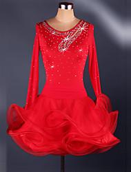 Costumes de Cosplay Plus de costumes Fête / Célébration Déguisement Halloween Rouge / Noir / Bleu Mosaïque Robe CarnavalOrganza /