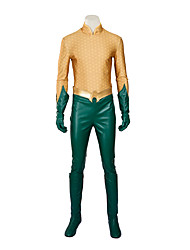 Cosplay Costumes Super Heroes / Spider / Soldier/Warrior / Movie/TV Theme Costumes Movie Cosplay Yellow Solid /Aquaman cosplay Halloween Costumes