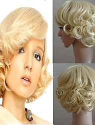 Marilyn Monroe Fashion Curly Wig Cosplay Hair Full Wigs Short Blond Holloween Party Hairstyle Natural Wig Heat Resistant