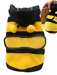 Katzen / Hunde Kostüme / Kapuzenshirts Gelb Hundekleidung Winter / Frühling/Herbst Tier Niedlich / Cosplay
