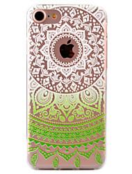Pour Coque iPhone 7 Coques iPhone 7 Plus Coque iPhone 6 Motif Coque Coque Arrière Coque A Dentelle Flexible PUT pour AppleiPhone 7 Plus