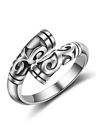 Fine 925 Vintage Silver Midi Knuckle Band  Open Adjustable Ring for Women Men