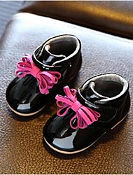 Girl's Flats Comfort Patent Leather Casual Black Pink Gray