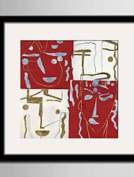 E-HOME® Framed Canvas Art, Abstract Face Framed Canvas Print