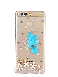 diy motif papillon bleu pc étui rigide pour p9 de Huawei Plus Lite honneur lite p8 8 7 6 6plus 5c 4x 5x 4a 4c s'accoupler 9 8 7