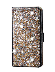 Bling Diamond Flip Leather Case Cover Stand Card Slot Shiny Magnetic Full Body Bag For Samsung Galaxy Note5 Note4 Noet3