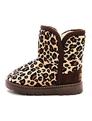 Girl's Boots Winter Comfort Snow Boots PU Dress Casual Flat Heel Others Leopard Walking