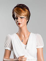 New Arrival Fashion Unique Short Straight Mixed Color Capless Wigs High Quality Human Hair