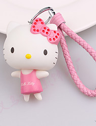 Lovely Candy - Colored Taffeta Kt Cat Keychain Fashion Bags Pendant Car Key Ring