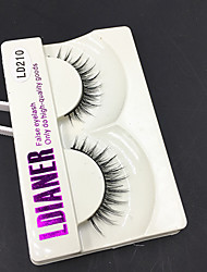 Full Strip Lashes Eyes Thick Handmade mink hair eyelash Black Band 0.10mm 12mm LD210