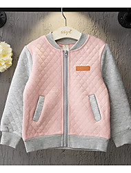 Girl's Casual/Daily Solid BlouseCotton Spring / Fall Blue / Pink
