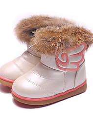 Girl's Boots Comfort Leatherette Casual Pink White Fuchsia
