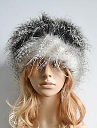 Women Faux Fur Ski Hat Casual Winter Gray / Brown / Beige