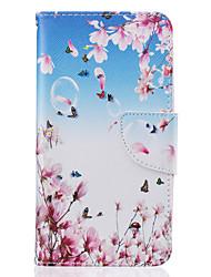 Para lg k10 k8 pequeno padrão de borboleta pintura PU material capa do telefone para lg k10 k8 k7