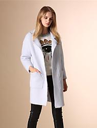 AOKNI® Damen Hemdkragen Lange Ärmel Pullover & Cardigan Hellblau-6033