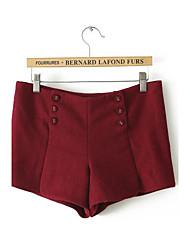 Pantalon Aux femmes Short simple Cachemire Micro-élastique