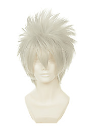 Naruto Kakashi Hatake Silver Grey White Upturned Towering Short Halloween Wigs Synthetic Wigs Costume Wigs