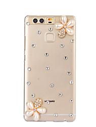 diy fleurs blanches pc étui rigide de motif pour p9 de Huawei Plus Lite honneur lite p8 8 7 6 6plus 5c 4x 5x 4a 4c s'accoupler 9 8 7