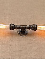 AC 220V-240V 40w E27 bg8011 nostalgia tubulação de água simples luz decorativos de parede pequena lâmpada de parede