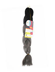 Others Jumbo Extensions de cheveux 18Inch Kanekalon Recommended Buy 4 Packs Full Head Brin 115g gramme Braids Hair