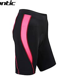 SANTIC® Gepolsterte Fahrradshorts Damen Fahhrad Atmungsaktiv / Rasche Trocknung / tragbar Shorts/Laufshorts / Gepolsterte Shorts / Unten