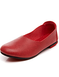 Women's Loafers & Slip-Ons Spring / Summer / Fall / Winter Fashion Boots Leather Dress / Casual Flat Heel Slip-on