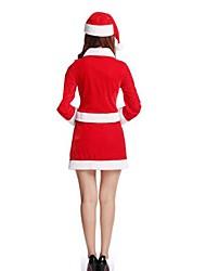 Fête / Célébration Déguisement d'Halloween Couleur Pleine Haut Ceinture Chapeau Short Noël Féminin Pleuche