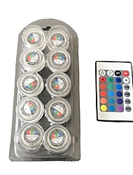 Waterproof Round The Candle Light /RGB/ Full Color LED Lights 1Box 10PCS