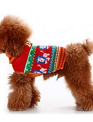 Dog Sweater Coffee Dog Clothes Winter / Spring/Fall Cartoon Classic / Keep Warm