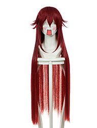Pandora Hearts Will of Abyss Alice Grell Sutcliff Mixed Wine Red Long Halloween Wigs Synthetic Wigs Costume Wigs