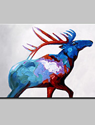 Hand Painted Milu Deer Animal Oil Painting On Canvas Modern Abstract Wall Art Picture For Home Decoration Ready To Hang
