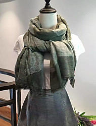 Women Polyester Scarf,Casual RectangleGeometric