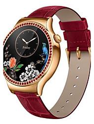 Femme Smart Watch Numérique / Vrai Cuir Bande Rouge Marque