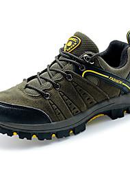 Men's Flats Fall Rubber Synthetic Suede Casual Flat Heel Gray Khaki Dark Green Hiking