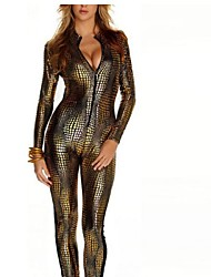 Plus Size Patent Leather Catsuit Costumes Night Day Pole Dancing Clothes Catwomen Jumpsuit Body Suits Fetish Leather Dress