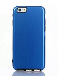Pour Coque iPhone 7 / Coques iPhone 7 Plus / Coque iPhone 6 Avec Support Coque Coque Arrière Coque Couleur Pleine Dur Polycarbonate Apple
