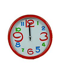 Color Edge Round Plastic Wall Clock (Note Color Mixed)