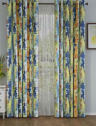 Un Panneau Le traitement de fenêtre Designer , Camouflage Salle de séjour Polyester Matériel Rideaux Tentures Décoration d'intérieur For