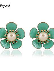 Boucle Perle imitée Rivet de boucle d'oreille / Boucles d'oreille goujon Bijoux Femme Soirée / Quotidien / DécontractéAlliage / Imitation