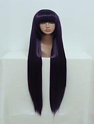 l'anime inu x Boku ss ririchiyo shirakiin 100cm longue ligne droite violet dame cosplay perruque Halloween perruque