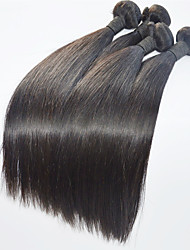 Natural Black Human Hair Weaves Brazilian Virgin Hair 4pieces/lot Hair Extension For Women