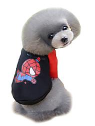 Hunde Pullover Rot / Gelb / Schwarz / Rosa / Grau Hundekleidung Winter / Frühling/Herbst Karton Niedlich / Modisch Lovoyager