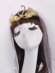 Typical Golden Swan Baroque Bride Crown Hair-dress