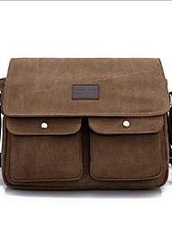 Men Shoulder Bag Canvas Casual Black Coffee Army Green Khaki