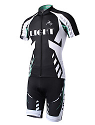 Cycling Jersey with Shorts Men's Short Sleeve Bike Clothing Suits Quick Dry Back Pocket Polyester 100% Polyester Stripe Summer