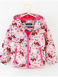 Girl's Casual/Daily Print Jacket & CoatPolyester Spring / Fall Pink