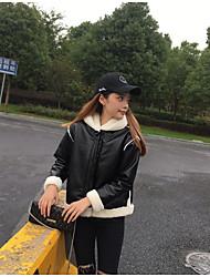 Sign lamb's wool coat female Korean student short paragraph plus thick velvet hooded fur coat